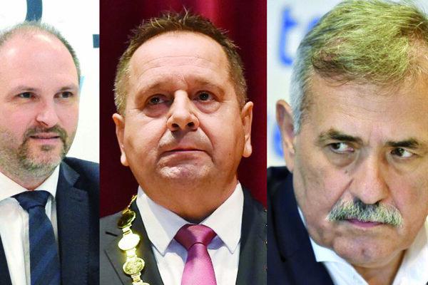 Trojica s najvyšším primátorským platom na východe - Polaček, Danko a Zahorčák.