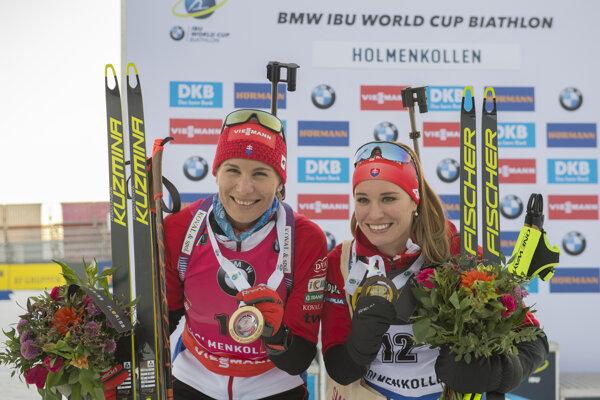 Anastasia Kuzminová (vľavo) a Paulína Fialková.