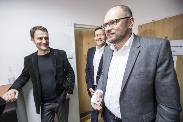 Igor Matovič, Daniel Lipšic a Richard Sulík.