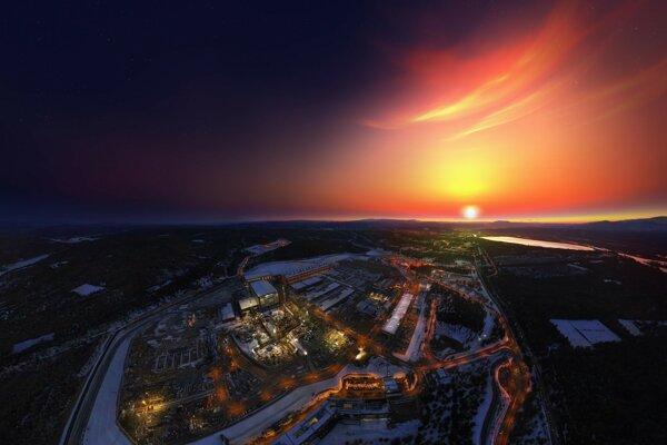 Výstavba projektu ITER (Medzinárodný termonukleárny experimentálny reaktor) v decembri 2017.