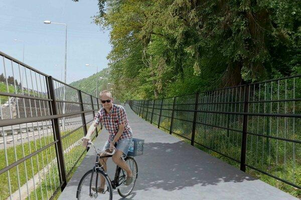 Takto má vyzerať cyklotrasa Brezno - Valaská.