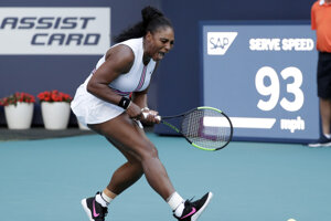 Serena Williamsová na turnaji WTA v Miami.