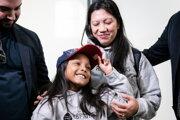 Filipínčanka Vanessa Rodelová a jej sedemročná dcéra Keana.