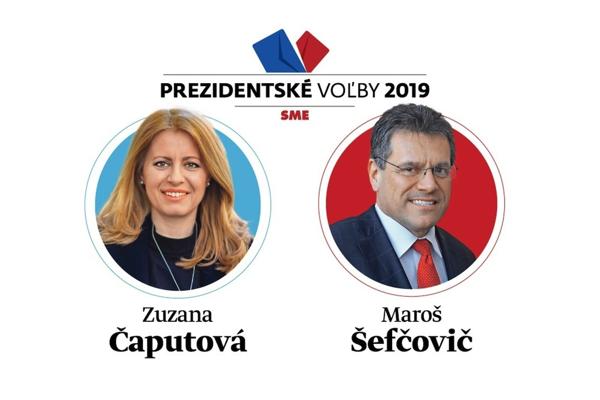 Zuzana Čaputová alebo Maroš Šefčovič? 2. kolo prezidentské volieb 2019 sa koná 30. marca.