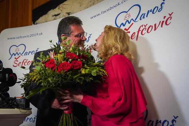 Maroš Šefčovič s manželkou.