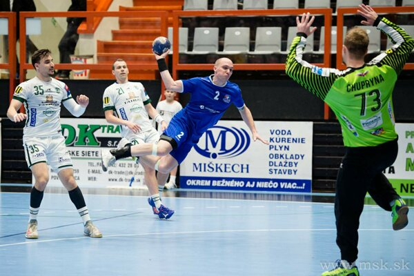 Pupík (v modrom) dal Prešovu päť gólov.
