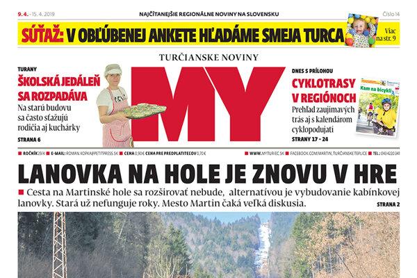 Najnovšie číslo MY Turčianskych novín je už od pondelka poobedia v predaji.