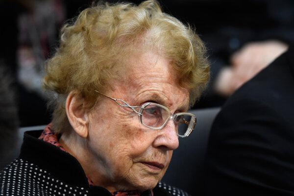 Na archívnej snímke zo 14. marca 2018 je Herlind Kasnerová, matka nemeckej kancelárky Angely Merkelovej.