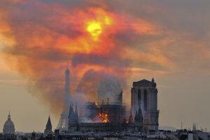 Horiaca parížska katedrála.