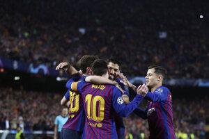 Futbalisti FC Barcelona.