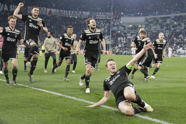 Futbalisti Ajax Amsterdam.