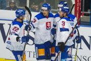 Slovenskí hokejisti počas prípravy na MS v hokeji 2019.