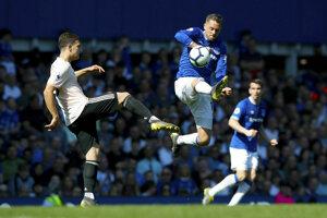 Momentka zo zápasu Everton - Manchester United.