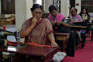 Bangladéšska krajčírska dielňa.