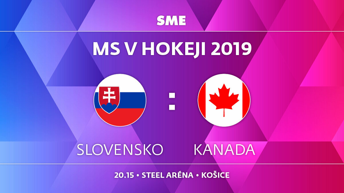 76ac109822914 Slovensko - Kanada, zápas MS v hokeji 2019, skupina A. Sledujte online  prenos