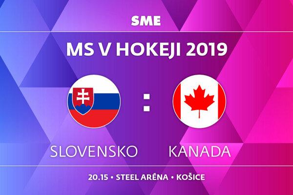 Slovensko - Kanada, zápas MS v hokeji 2019, skupina A. Sledujte online prenos na SME.sk.
