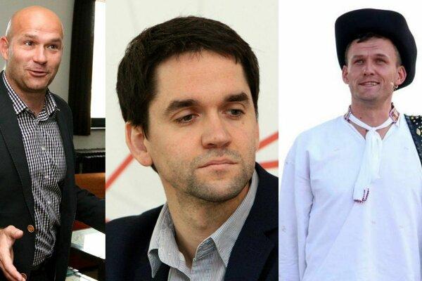 Zľava Stanislav Horník, Ondrej Lunter a Roman Malatinec.