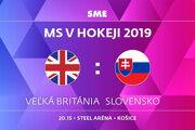 Veľká Británia - Slovensko, zápas MS v hokeji 2019, skupina A. Sledujte online prenos na SME.sk.