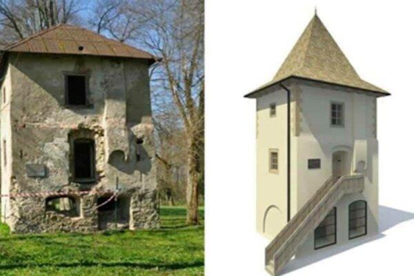 Vľavo súčasný stav, vpravo ako by mala vyzerať po renovácii.
