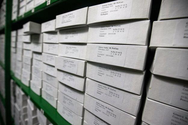 Pšenica sa Herbáriu ukladá do bielych škatúľ, skladuje sa pri teplote desať stupňov.