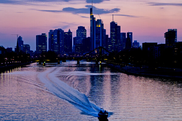 Frankfurt nad Mohanom, sídlo Európskej centrálnej banky.
