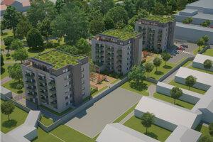 Vizualizácia navrhovaného komplexu Alžbetin park