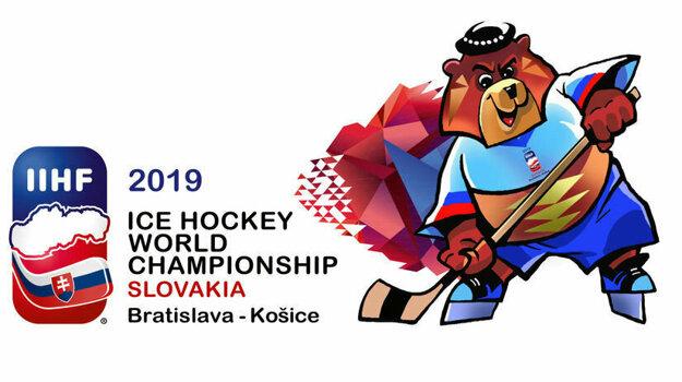 Macejko ako maskot MS v hokeji 2019 na Slovensku.