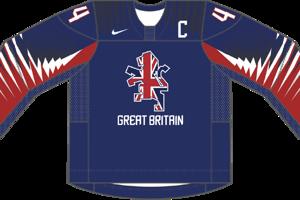 Dres Veľkej Británie určený pre zápasy, v ktorých je napísaná ako hosťujúci tím.