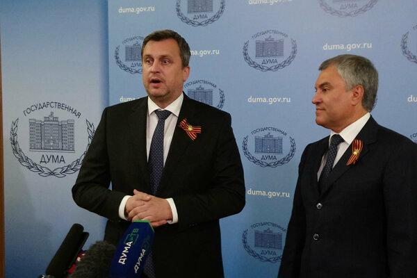 Predseda Národnej rady Andrej Danko a predseda ruskej Štátnej dumy Vjačeslav Volodin.