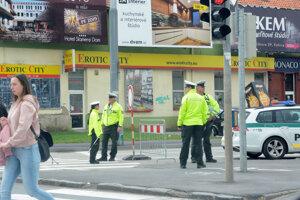 Na dopravu v okolí arény dozerala polícia.