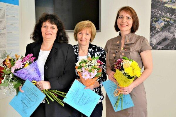 Ocenené sestry: (zľava) Edita Trtílková, Mariana Rumanová a Jana Findurová.