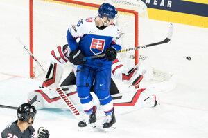 Marko Daňo v zápase Slovensko - Kanada na MS v hokeji 2019.