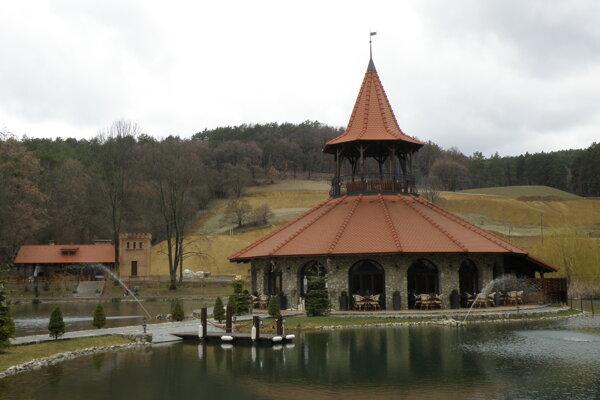 Bašta v Bojnických kúpeľoch.