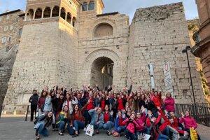 Košická výprava z Gymnázia a základnej školy Sándora Máraiho prišla do Talianska dvoma autobusmi.
