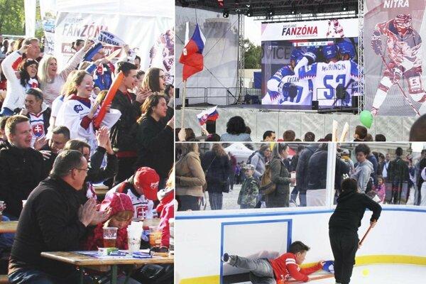 Návštevníci nitrianskej fanzóny si užili víťazstvo nad Francúzskom 6:3.