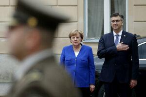 Angela Merkelová sa stretla s chorvátskym premiérom Andrejom Plenkovičom.