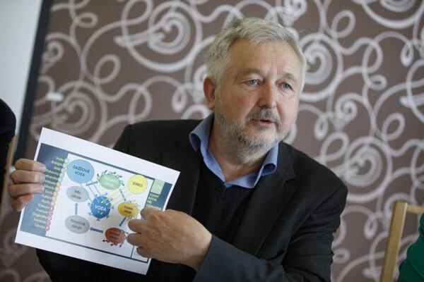 Predseda Demokratickej strany a kandidát pre voľby do Euróspskeho parlamentu Michal Kravčík prezentuje program s mottom Zo slovenského európske.
