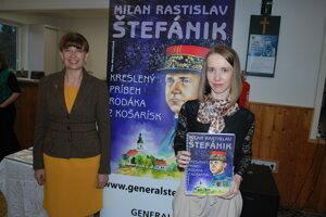 Autorka textu Lenka Mlčúchová (vpravo) sautorkou nápadu vytvoriť komiks Annou Abramovičovou.
