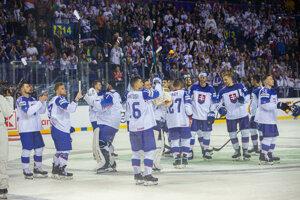 Slovenskí hokejisti sa lúčia s domácim šampionátom v košickej Steel Aréne.