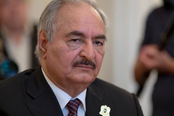 Líder Líbyjskej národnej armády (LNA) Chalífa Haftar.