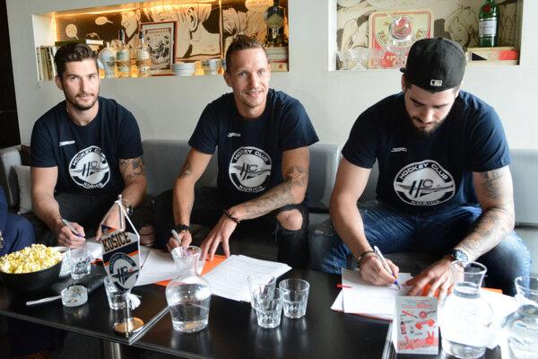Nové košické posily, zľava Dávid Skokan, Michal Chovan a Jurij Repe.