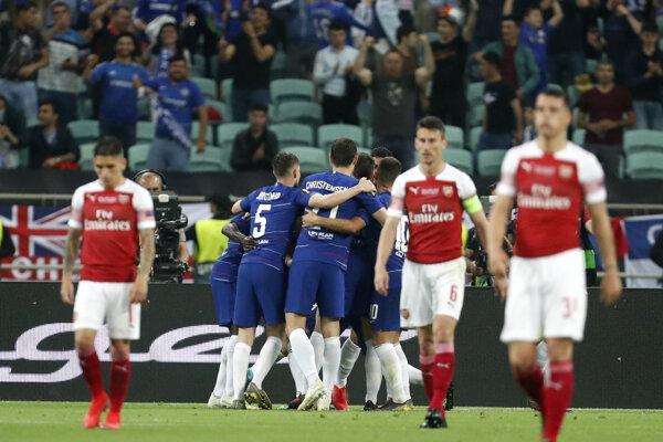 Radosť hráčov FC Cheslea vo finále Európskej ligy.