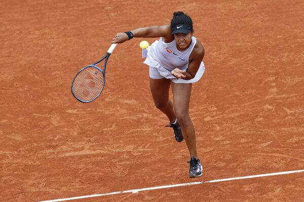 Naomi Osaková v zápase druhého kola na Roland Garros 2019.