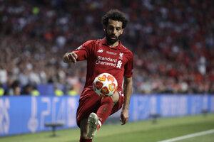 Mohamed Salah vo finále Ligy majstrov 2018/2019 Liverpool - Tottenham.