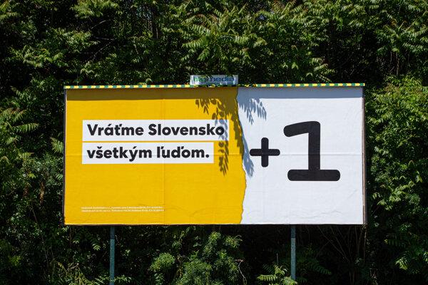 Bilbord budúcej strany prezidenta Andreja Kisku.