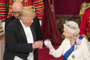 Trump si užil veľkolepý kráľovský banket.