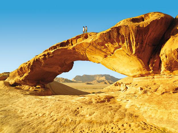 Púšť Wadi Rum.
