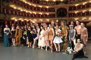 V moskovskom baletnom dome.