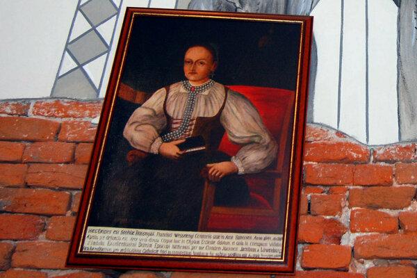 Portrét Žofie Bosniakovej v kostole v Tepličke nad Váhom