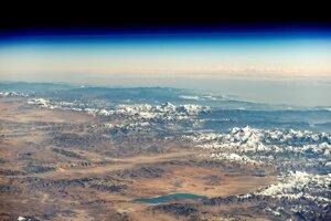Pohľad na Himaláje z Medzinárodnej vesmírnej stanice.